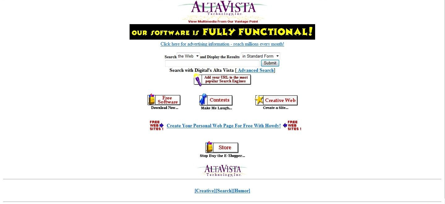 AltaVista moteur de recherches le 26-12-1996 - Blog Xpression-ecrite.com